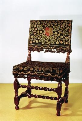 Chair with spiral stretchers, late 17th century