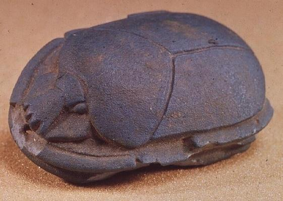 Scarab from the neck bead of a mummy, Late Period, c.600 BC