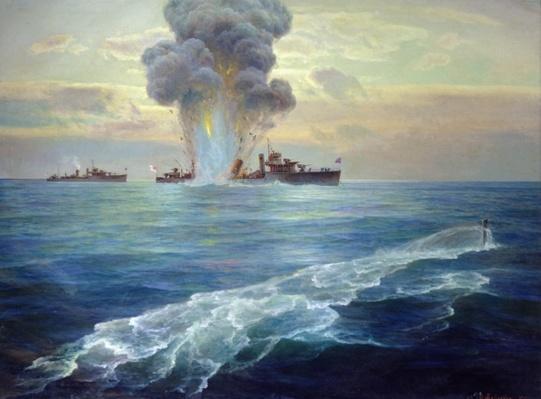 British destroyer Vittoria torpedoed by the Bolshevik submarine Pantera off the island of Seiskari on 1st September 1919, 1939