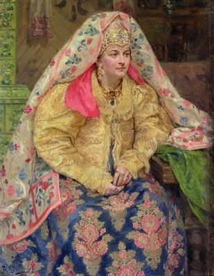 Woman in Old Russian Dress, 1916