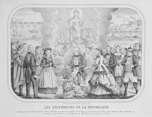 'Les Splendeurs de la Republique' by French School, (19th century)