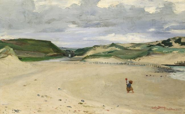 The Beach at Ambleteuse, 1869