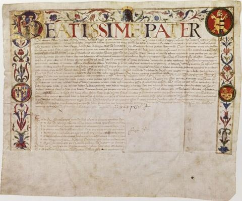 A petition from the German banking family Fugger to Pope Alexander VI
