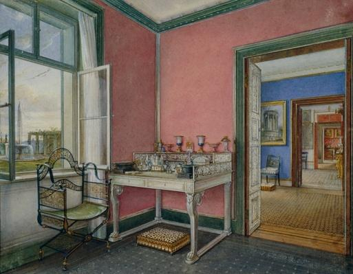 Writing cabinet of the crown princess in the Charlottenhof Palace, Berlin