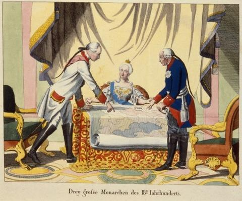 Joseph II, Catherine the Great and Frederick II