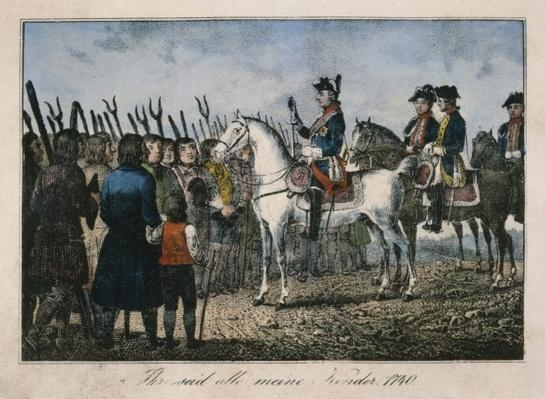 Frederick the Great with the farmers