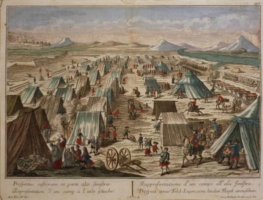 Military camp, c.1780