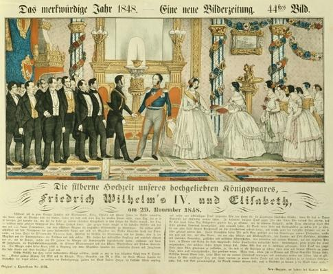 Silver wedding anniversary of Frederick William IV of Prussia and his wife Elizabeth Ludovika of Bavaria, 1848