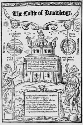 Frontispiece to 'The Castle of Knowledge' by Robert Recorde, 1556