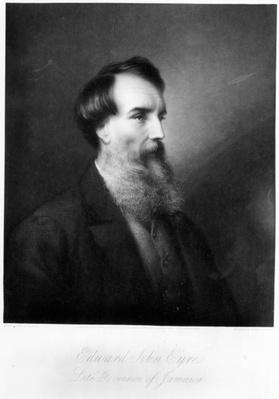 Edward John Eyre, engraved by Charles Algernon Tomkins, c.1901