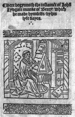 John Lydgate at his desk, c.1515
