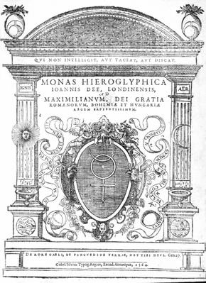 Frontispiece from 'Monas Hieroglyphica' by John Dee, published in 1564