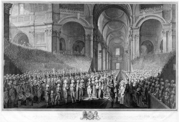 Thanksgiving service in St.Paul's Cathedral, celebrating the recovery of King George III, 23rd April 1789