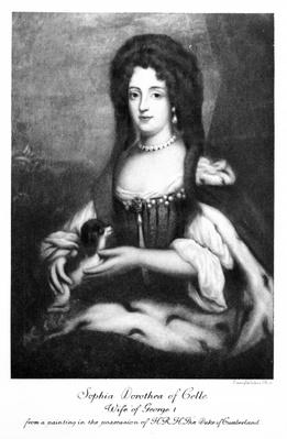 Sophia Dorothea of Celle, engraved by Emery Walker