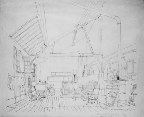 Richard Parkes Bonington's studio in Paris