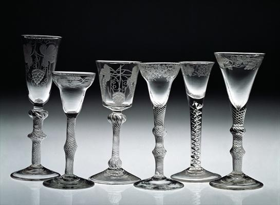 Air-twist glasses, 1750-60