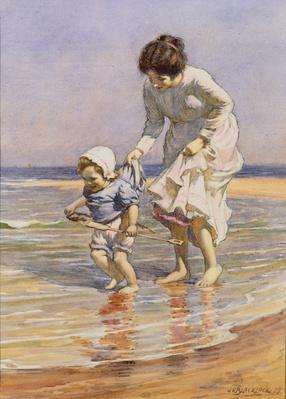 Paddling, 1915