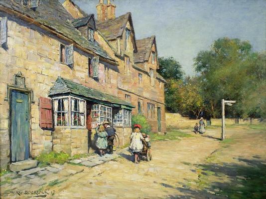 Cotswold village, 1917