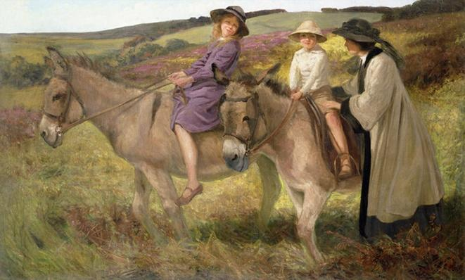 The Donkey Ride, 1912