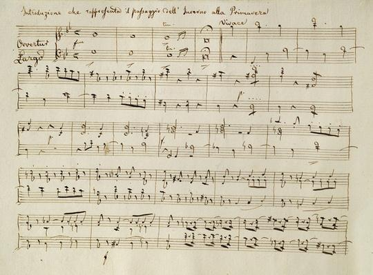 Ouverture from the score of 'Spring', from the oratorio 'The Seasons', first performed April, 1801