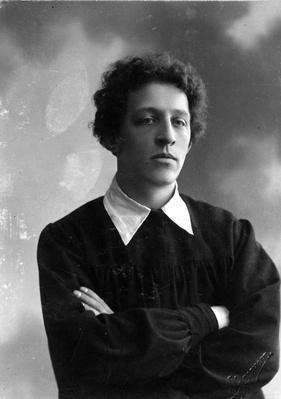 Portrait of the poet Alexander Blok