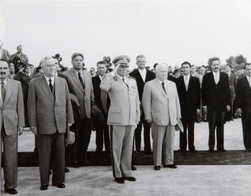 The arrival of the Soviet Delegation in Belgrade, 26th May 1955