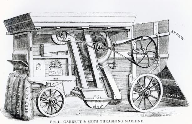 Garrett and Sons Patent Combined Threshing and Dressing Machine