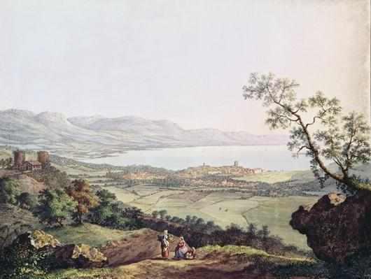 View of Geneva from Saconex in Savoy