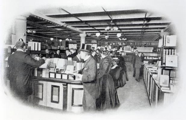 Book Department at an Army and Navy store, c.1900