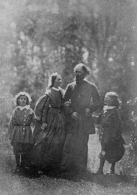 Alfred, Lord Tennyson with his wife Emily and two sons, Hallam and Lionel, c.1862