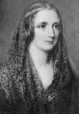 Mary Shelley, an idealised portrait created after her death