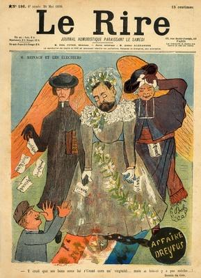 Caricature of Joseph Reinach, from the front cover of 'Le Rire', 28th May 1898