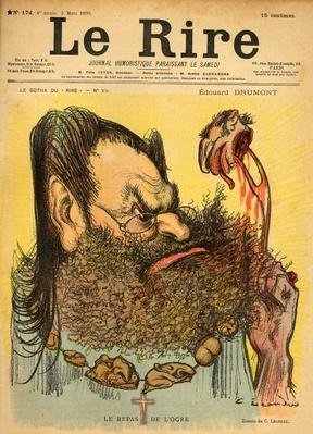 Caricature of Edouard Drumont, from the front cover of 'Le Rire', 5th March 1898