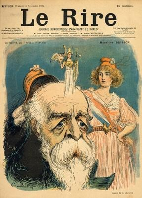 Caricature of Henri Brisson, from the front cover of 'Le Rire', 5th November 1898