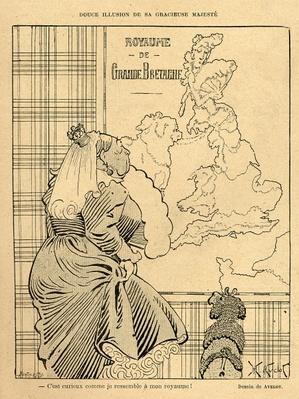 Cartoon of Queen Victoria, from 'Le Rire', 22nd April 1899
