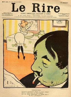 Humorous cartoon from the front cover of 'Le Rire', 22nd April 1899