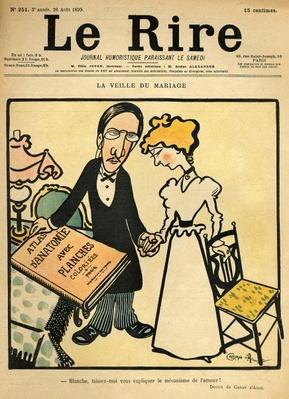 The day before the wedding, cartoon from the cover of 'Le Rire', 26th August 1899