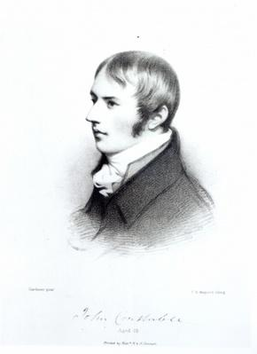 John Constable, aged 20, engraved by Thomas Herbert Maguire