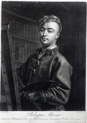Self Portrait, engraved by John Faber, 1735