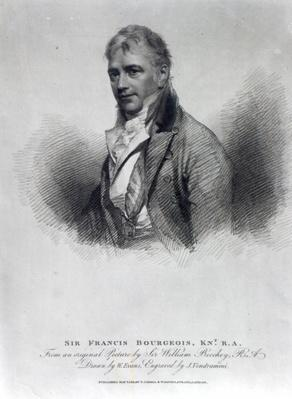 Sir Francis Bourgeois, after a drawing by W. Evans, engraved by J. Vendramini, 1811