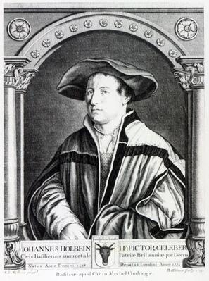 Hans Holbein the Younger, engraved by Bartholomaus Huebner, 1790