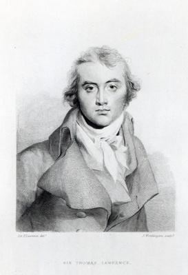 Self Portrait, engraved by J. Worthington