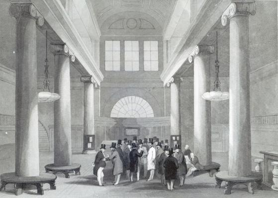 Stock Exchange, engraved by Henry Melville, c.1842