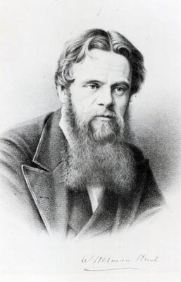 William Holman Hunt, engraving after a photograph, c.1865