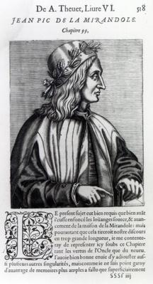 Giovanni Pico della Mirandola, from 'Les Vrais Pourtraits et vies des hommes illustres' by Andre Thevet, 1584
