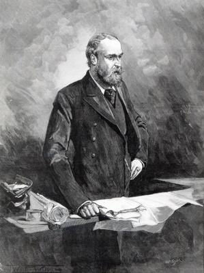 Charles Stewart Parnell, in the witness box during the Special Commission investigating alleged links between Parnellism and crime, c.1888