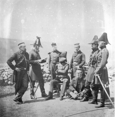 Lieutenant General Sir George Brown G.C.B and officers of his staff, c.1855