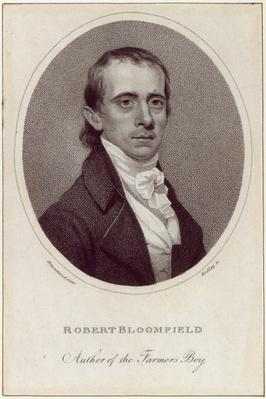 Robert Bloomfield, engraved by William Ridley, published in the 'Monthly Mirror', 1800