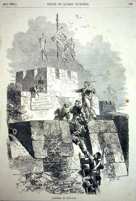British troops capture Ting-Hae Fort in 1840 during the Chinese Opium Wars