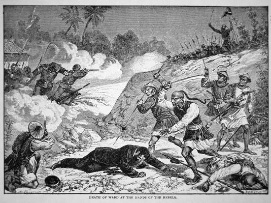 Death of General Ward in the Battle of Tzeki, 20th August, 1862 during the Taiping Rebellion